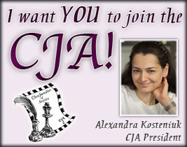 Kosteniuk wants you to join the CJA