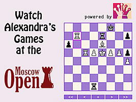 Alexandra Kosteniuk plays at the Moscow Chess Open 2011