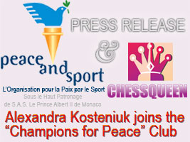 Kosteniuk Becomes champion for Peace