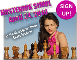 Kosteniuk will give a simile at the Gold Coast Open