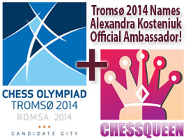 Alexandra Kosteniukhas been named ambassador for Tromso 2014