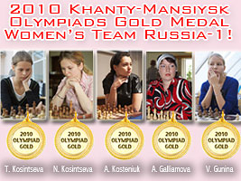 Alexandra Kosteniuk's team won the Chess Olympiads
