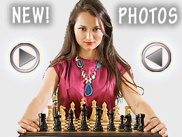 World Chess Champion and Chess Queen Alexandra Kosteniuk has advertising contracts