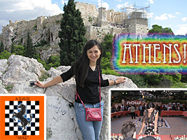 World Chess Champion and Chess Queen Alexandra Kosteniuk was in Athens