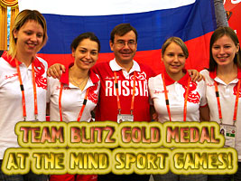 Chess Grandmaster Alexandra Kosteniuk won a second gold at the Mind Sport Games in Beijing