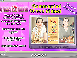 World Chess Champion and Chess Queen Alexandra Kosteniuk beats Gaponenko
