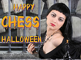World Chess Champion and Chess Queen Alexandra Kosteniuk wishes you a Happy Halloween 2009