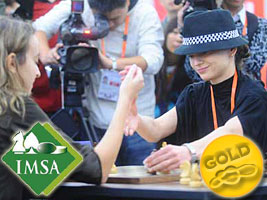 Chess Grandmaster Alexandra Kosteniuk wins Gold at the Mind Sport Games in Beijing