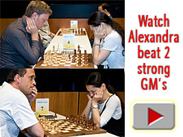 Chess Grandmaster Alexandra Kosteniuk comments her wins on Youtube