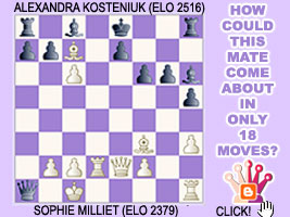 World Chess Champion Alexandra Kosteniuk comments her miniature against Milliet in Corsica