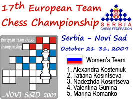 World Chess Champion and Chess Queen Alexandra Kosteniuk will play in Novy Sad