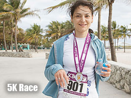 Alexandra Kosteniuk competed in a 5K race