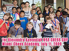 The First Alexandra Kosteniuk Chess Cup took place