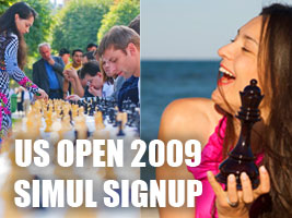 World Chess Champion and Chess Queen Alexandra Kosteniuk will give a simul in Indianapolis U.S. Open