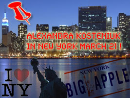 Alexandra Kosteniuk will go to New York for a simul for the US Chess Trust