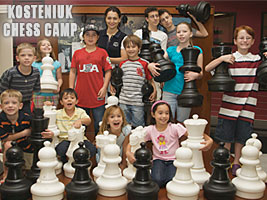 World Chess Champion Alexandra Kosteniuk is hosting a chess camp