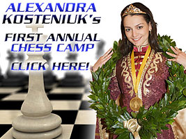Alexandra Kosteniuk will host a series of chess camps this summer