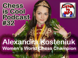 Listen to Alexandra's chess is cool audio podcast