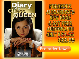 World Chess Champion and Chess Queen Alexandra Kosteniuk new book is coming out