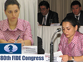 World Chess Champion and Chess Queen Alexandra Kosteniuk is at the FIDE Congress