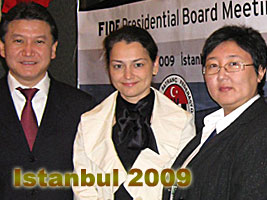 Alexandra Kosteniukat is at the FIDE Presidencial Board in IStanbul