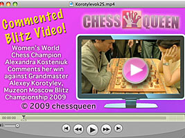 World Chess Champion and Chess Queen Alexandra Kosteniuk beats Korotylev