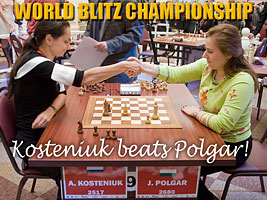 World Chess Champion and Chess Queen Alexandra Kosteniuk beats Judith Polgar