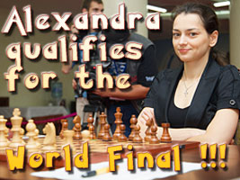 Alexandra Kosteniuk qualifies for the Final at the World Chess Championship in Nalchik