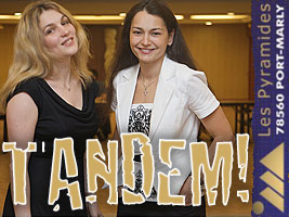 Alexandra and Almira play a tandem simul in Paris