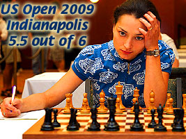 World Chess Champion and Chess Queen Alexandra Kosteniuk is playing at the US chess open