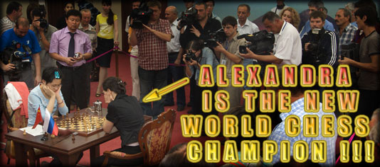 Alexandra Kosteniuk is the new world chess champion