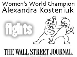 World Chess Champion and Chess Queen Alexandra Kosteniuk answers a ridiculous article from the Wall Street Journal