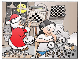 Kosteniuk Christmas Comic