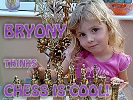 Chess Grandmaster Alexandra Kosteniuk inspired Bryony to start to learn chess