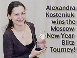 Chess Grandmaster Alexandra Kosteniuk comments her blitz win against Zoltan Almasi of the World Blitz Championship