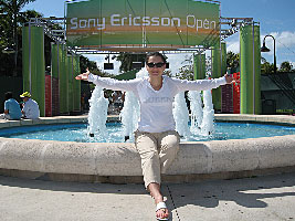 Chess Grandmaster Alexandra Kosteniuk visited the 2007 Sony Ericsson Open in Key Biscayne Miami Florida