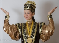 Kosteniuk in Kalmyk Dress