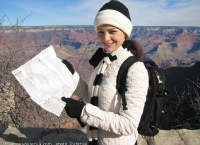Alexandra hikes down the Grand Canyon