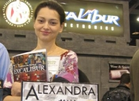 Alexandra visits the Excalibur booth in Las Vegas