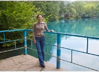Kosteniuk visits the Blue Lake while in Nalchik