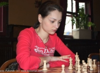 Alexandra plays a match in Breda (Holland)