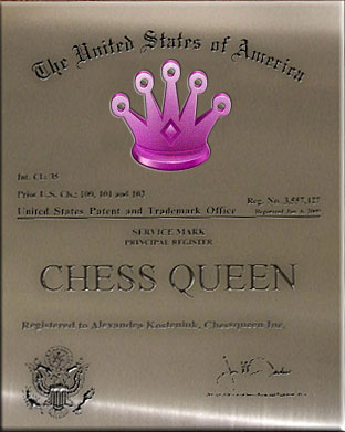Chess Queen is a Trademark owned by 12th women's world champion Alexandra Kosteniuk