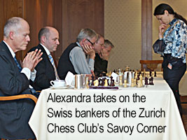 Kosteniuk visits the Zurich Chess Club