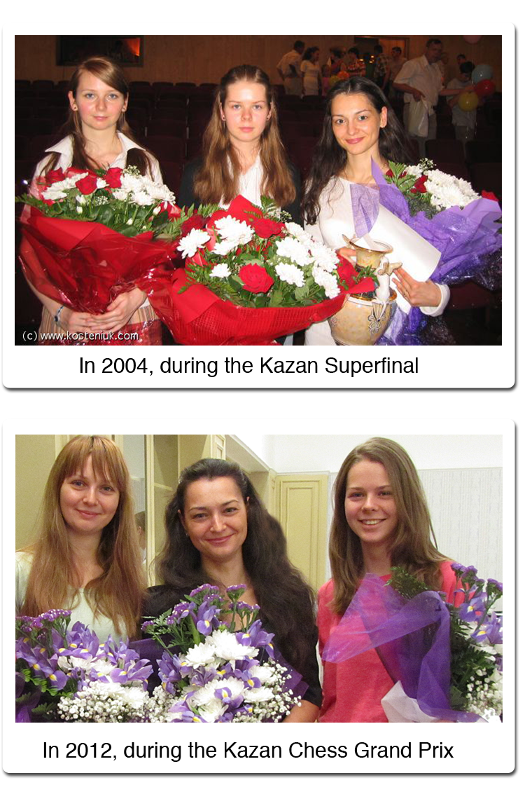 Chess Queen Alexandra Kosteniuk and the Kosintseva Sisters