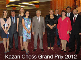 Chess Queen Alexandra Kosteniuk plays in the 2012 Kazan Chess Grand Prix