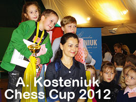 Chess Queen Kosteniuk invites kids to the Chess Cup in Svetlogorsk