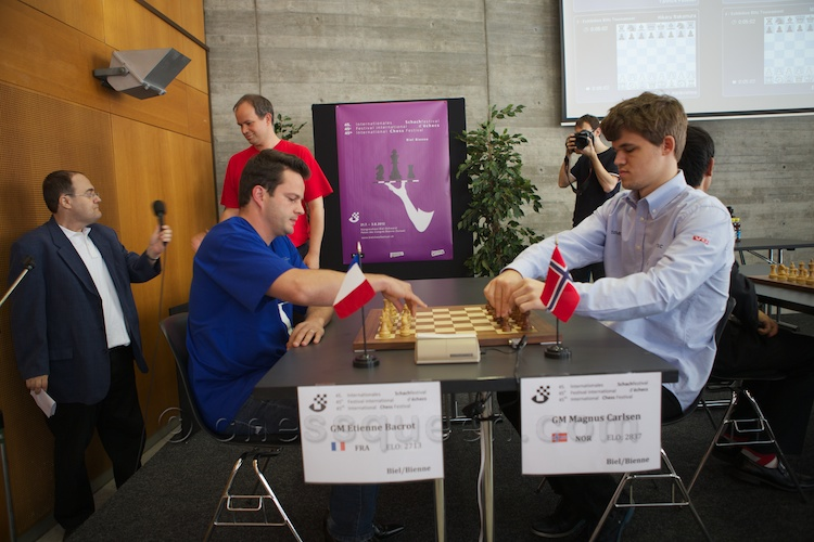 Etienne Bacrot created the first sensation by beating Magnus Carlsen