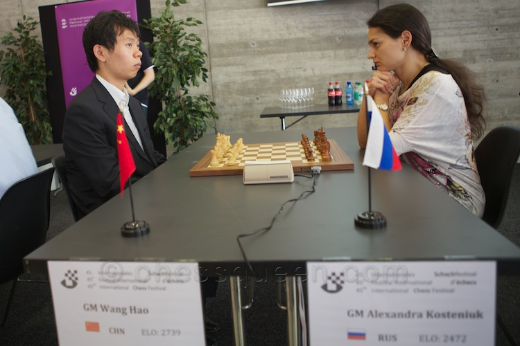 Alexandra Kosteniuk created a sensation by beating Wang Hao