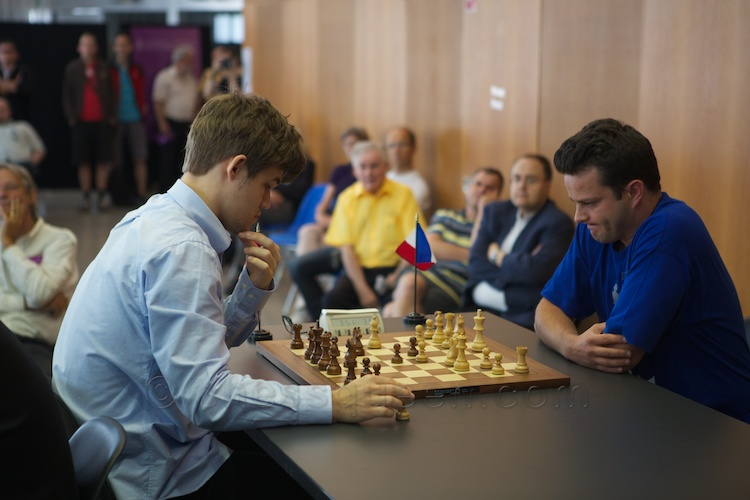Etienne Bacrot eliminated Magnus Carlsen in the quarter finals