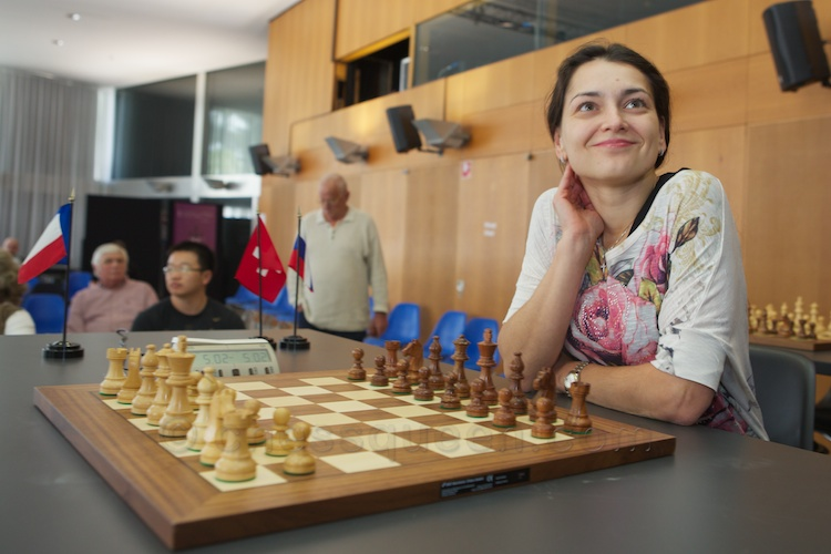 Chess Queen Alexandra Kosteniuk in Biel 2012